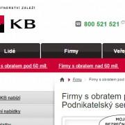 Web komerční banky